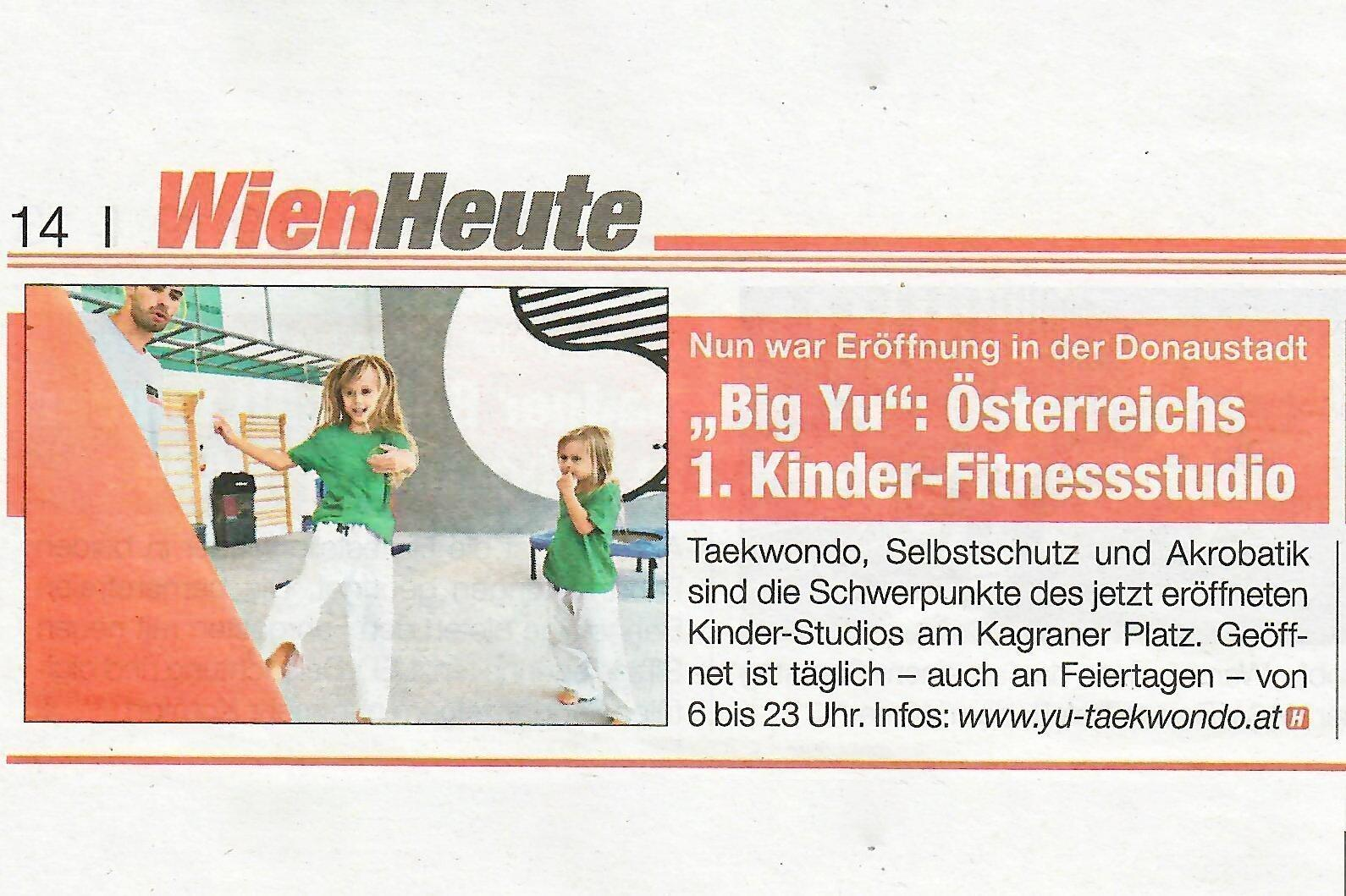 BIG YU Eröffnung Heute Zeitung