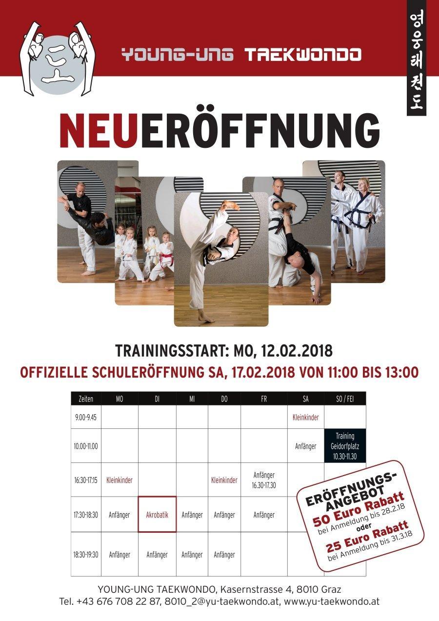 YOUNG-UNG Taekwondo Graz Kampfsport Training