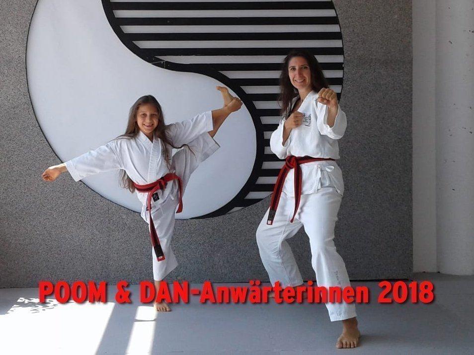 Bild zu POOM- & DAN-Anwärterinnen Mia und Eva