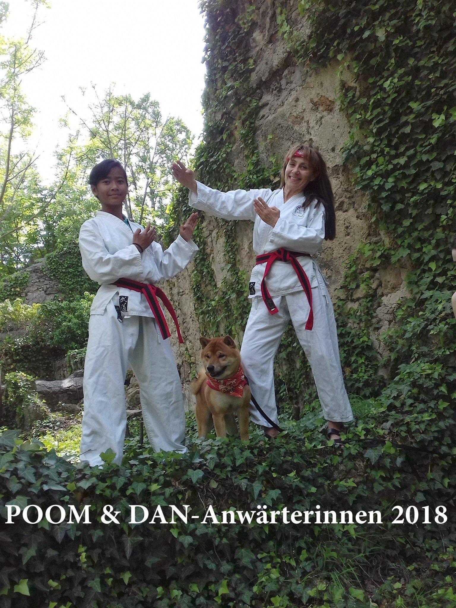 Bild zu POOM- & DAN-Anwärterinnen Nagisa und Reinhild
