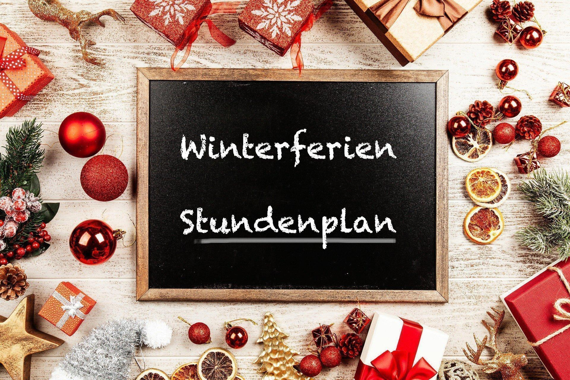 Bild zu Winterferienstundenplan