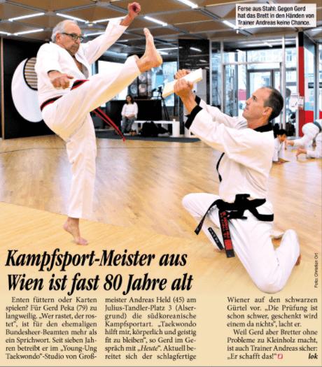 YOUNG-UNG Taekwondo Kampfsport Gerd Peka Heute Zeitung