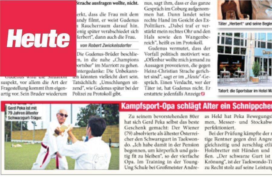 Gerd Peka in der Heute Zeitung