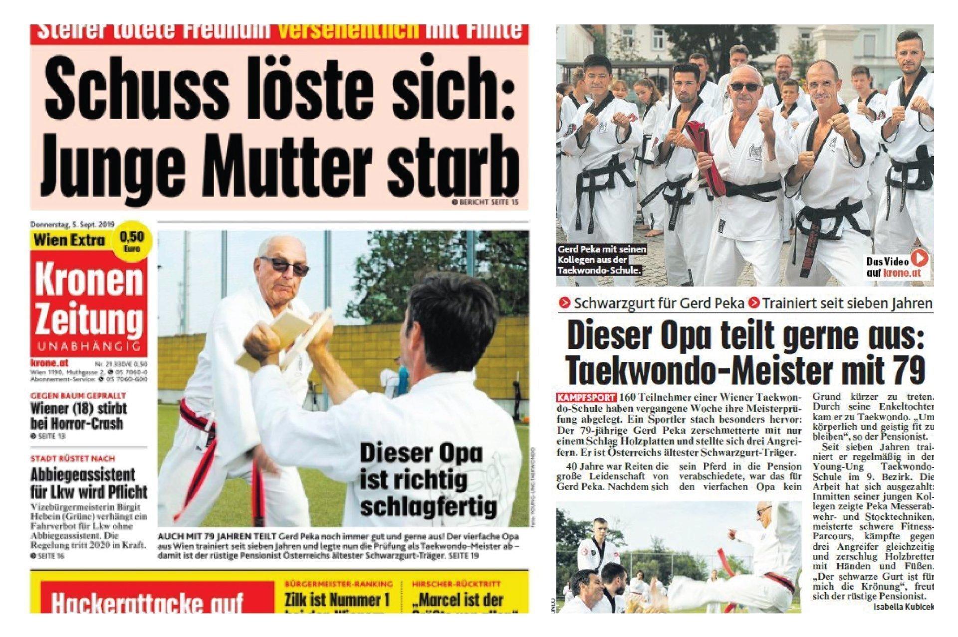 Bild zu Gerd am Titelcover der Kronen Zeitung!
