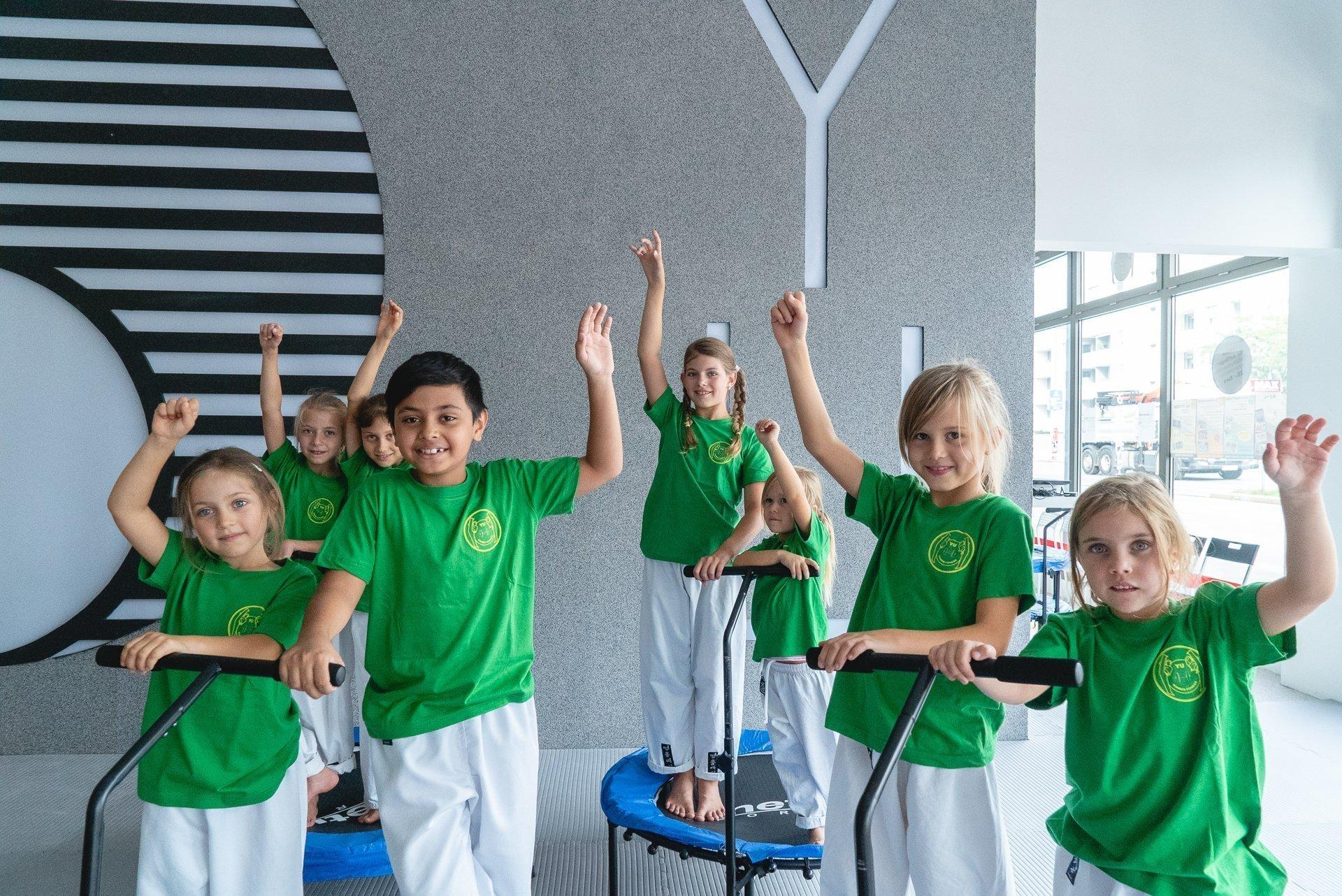 Sommer-Camp Kinder YOUNG-UNG Taekwondo BIG YU Kinderbetreuung YU Kinderfitness Wagramer Straße BIG YU