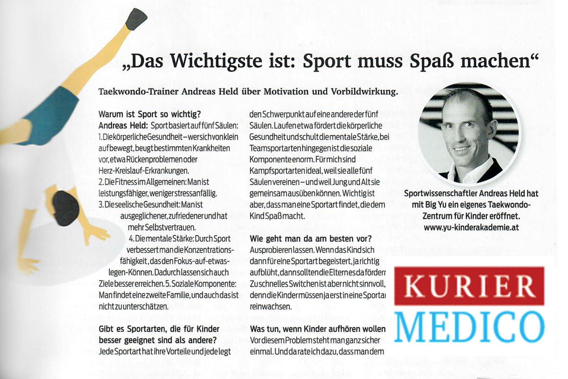 YOUNG-UNG im Kurier-Magazin Medico