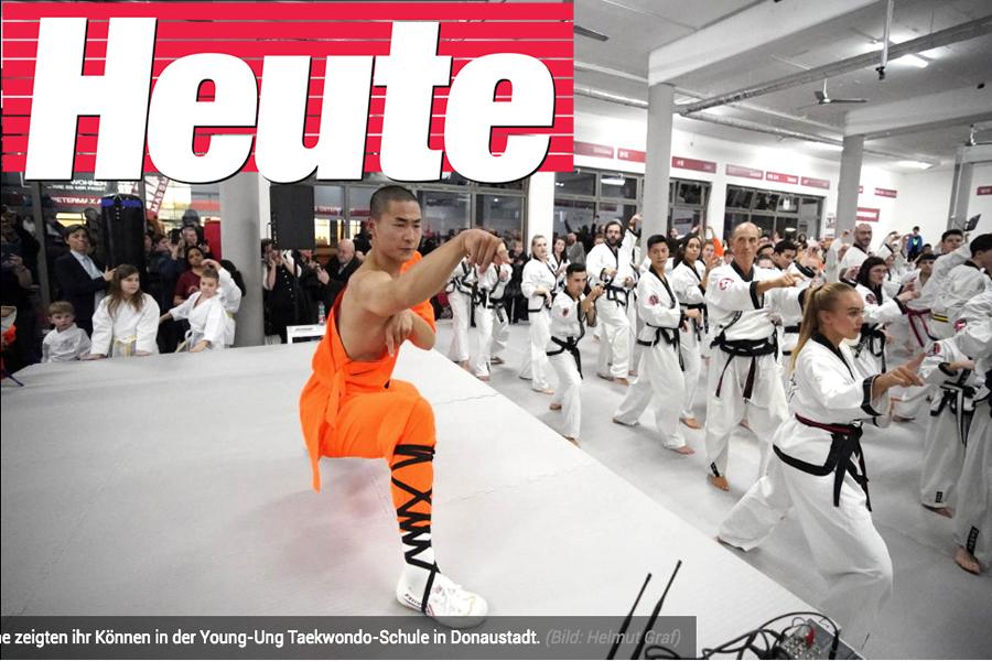 Shaolin-Mönche in der Heute Zeitung