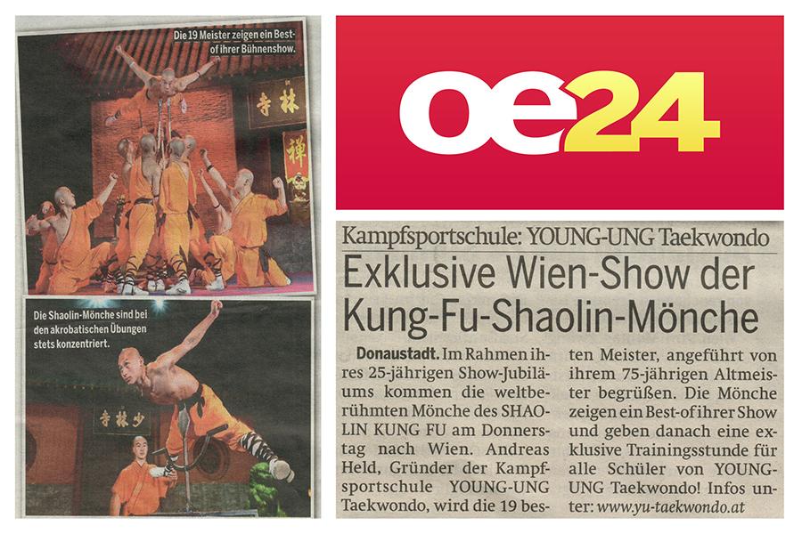Kampfmönche in Österreich Zeitung